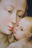 Mary en de Zuigeling Jesus die - door R schilderen van der Weyden royalty-vrije stock afbeeldingen