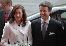 Mary en Frederik van Denemarken royalty-vrije stock afbeeldingen