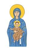 Mary en Jesus (vector) Royalty-vrije Stock Fotografie