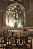 Mary gothic Paris kościelna modlitwa obraz stock