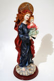 Mary holding Jesus. Statue of Mary and Jesus Stock Photography