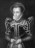 Mary I of England. (1516-1558) on engraving from 1838. Queen regnant of England and Ireland during 1553-1558. Engraved by H.T.Ryall after a painting by Holbein Stock Images