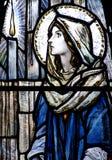 Mary i målat glass Royaltyfri Bild