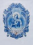 Mary i tegelplattor royaltyfria bilder