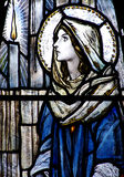 Mary im Buntglas Lizenzfreies Stockbild