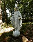 Mary im Wald stockfoto