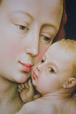 Mary and the Infant Jesus - Painting by R. van der Weyden Royalty Free Stock Images