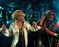 Mary J Blige en George Clinton royalty-vrije stock foto's