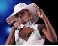 Mary J Blige führt durch stockfotografie