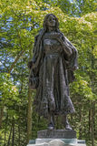Mary Jemison Statue. At Letchworth State Park In New York Stock Images