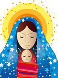 Mary and Jesus. Nativity: Mary and baby Jesus Royalty Free Stock Images