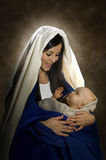 Mary & Jesus. Vertical portrait of Mary and baby Jesus Royalty Free Stock Photography