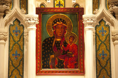 Mary Jesus Icon Saint Patrick's Cathedral Stock Images