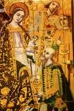 Mary Jesus Kings Ceramic Tiles Alcazar Royal Palace Sevilla España fotografía de archivo libre de regalías