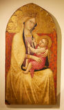 Mary and Jesus, panel painting, Siena, Italy Royalty Free Stock Image