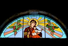 Mary and Jesus stained glass Royalty Free Stock Photography