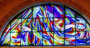 Mary Jesus Stained Glass Basilica Lady-Rosenbeet Fatima Portugal stockbild