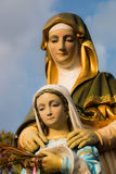 Statue of Virgin Mary and Jesus Royalty Free Stock Image