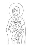 Mary and Jesus (vector) Stock Photos