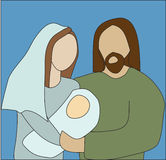 Mary and Joseph. Holding baby Jesus Royalty Free Stock Images
