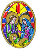 Mary, Joseph and Baby Jesus Royalty Free Stock Photos