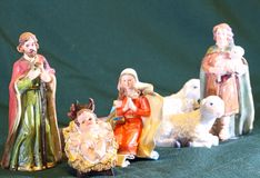 Mary and Joseph with the child Jesus Royalty Free Stock Photos