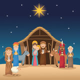 Mary joseph jesus wise men and shepherd design Royalty Free Stock Images