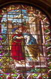 Mary Joseph Stained Glass San Francisco el Grande Madrid Spain Stock Photos