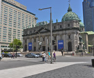 Mary-Königin der Weltkathedrale Montreal Stockbild