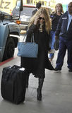Mary Kate Olsen at LAX airport, california Stock Photography
