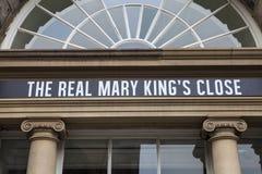Mary Kings Close real em Edimburgo Fotografia de Stock Royalty Free