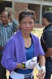 Mary Kom, est un boxeur olympique indien image stock