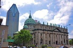 Mary Koningin van de Kathedraal van de Wereld in Montreal Stock Foto