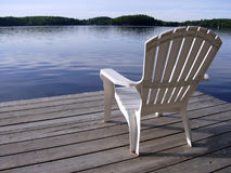 Mary Lake Chair Stock Photo