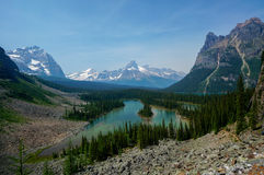 Mary Lake in Yoho National Park Royalty-vrije Stock Afbeelding