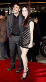 Mary-Louise Parker and Jeffrey Dean Morgan. Jeffrey Dean Morgan and Mary-Louise Parker attend the World Premiere of `P.S. I Love You` held at the Grauman`s Royalty Free Stock Photography