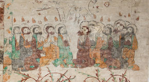 Mary Magdalena entre os doze apóstolos Fotografia de Stock Royalty Free