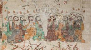 Mary Magdalena unter den zwölf Aposteln Lizenzfreie Stockfotografie