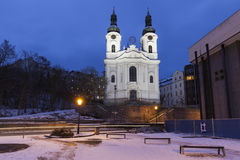 Mary Magdalene Church in Karlovy Vary Stock Photo