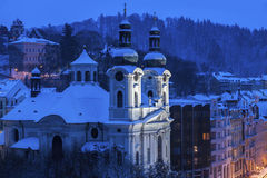 Mary Magdalene Church in Karlovy Vary. Karlovy Vary Carlsbad, Bohemia, Czech Republic royalty free stock image