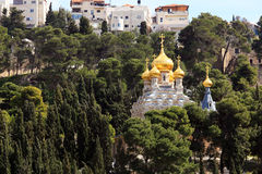 Mary Magdalene Convent on the Mount of Olives, Jerusalem Stock Images