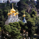 Mary Magdalene Convent on the Mount of Olives, Jerusalem Royalty Free Stock Image