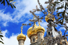 Mary Magdalene Convent on the Mount of Olives, Jerusalem Stock Photos
