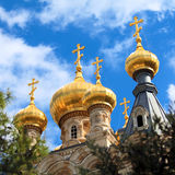 Mary Magdalene Convent on the Mount of Olives, Jerusalem Royalty Free Stock Photos