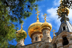Mary Magdalene Convent on the Mount of Olives, Jerusalem Royalty Free Stock Photo