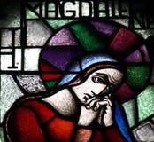 Mary Magdalene en verre souillé Image libre de droits