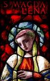 Mary Magdalene en vitral Foto de archivo