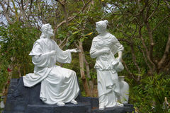 Mary Magdalene and Jesus Christ. The sculpture on the mountain Nyo, Vietnam Royalty Free Stock Photos