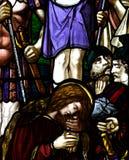 Mary Magdalene målat glass royaltyfria foton