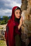 Mary Magdalene na sepultura de Jesus fotografia de stock